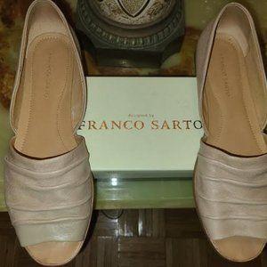 Women's Franco Sarto Vancouver Peep Toe Flats